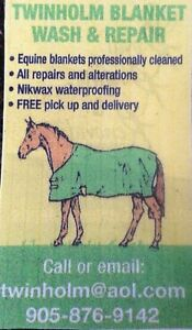 Horse blanket wash and repair, tack repair, custom blankets