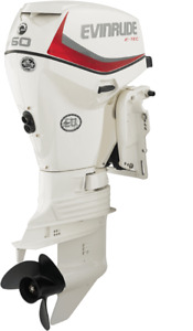 Evinrude 60HP with Binnacle Controls and Propeller