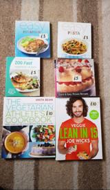 Cook books - veggie lean in 15, athletes book, baking.