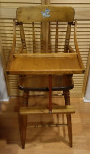 Child's Solid Wood High Chair