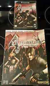 GAMECUBE RESIDENT EVIL 1 and 4 COMPLETE WITH STRATEGY GUIDE