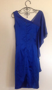 BRAND NEW Sapphire Blue Ruched Rhiestone Formal Dress Kitchener / Waterloo Kitchener Area image 4