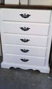 Solid wood tall boy dresser