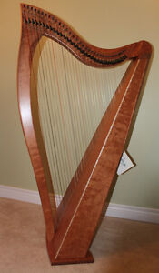 34 String Dusty Strings Lever Harp Brand New