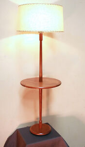 Brilliant Mid Century Teak TORIM LITES  Floor Lamp SEE VIDEO