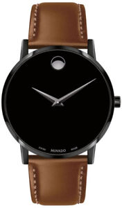 Movado Museum Classic Black PVD Stainless Steel 0607273