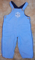 Tommy Hilfiger Blue Winter Snowflake Cord Dungarees (12-18M)