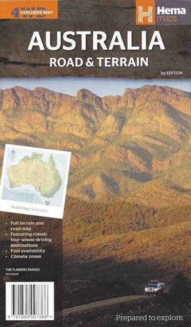 Hema Australia Road & Terrain Map *FREE SHIPPING - NEW*
