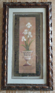 Picture, lovely floral with heavy frame Choose from 2   $15
