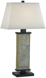 Kenroy Home Hanover Table Lamp Natural Slate
