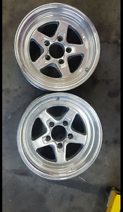 Pair of 15 x 8 x 4.75  Jegstar wheels  for chev