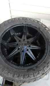 "22"" Dubs 35"" tires"