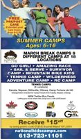 March Break Camps & Summer Camps