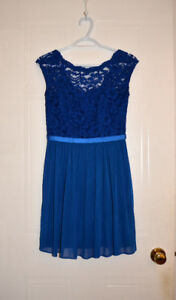 Short Blue Bridesmaid Dress- David's Bridal