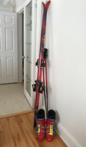 Head 185 Skis, Poles,Tyrolia Bindings,men's boots sz. 27.5 & bag