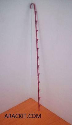 Hanging Chip Snack Display Rack - 1 Strip 12 Clip Red