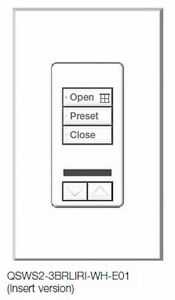 NEW Lutron - seeTouch QS, 3 Button, QSWS2‑3BRLIR‑I‑WH‑E01 Kitchener / Waterloo Kitchener Area image 4