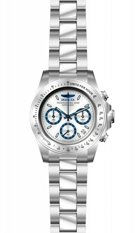 Invicta Speedway Chronograph Silver Dial Stainless Steel Men Watch 17311