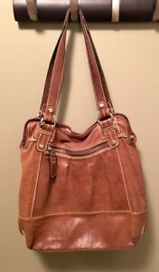Leather Fossil Purse - Brown