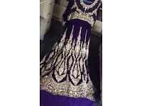 Bridal lehnga/lehenga Asian bridal dress purple