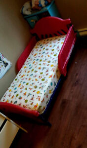 Toddler bed. With mattress
