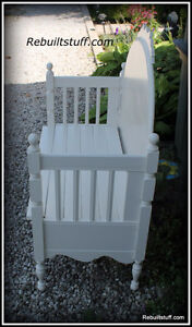Shabby Chic Bench-Repurposed  From Bed Kitchener / Waterloo Kitchener Area image 2