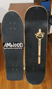 Custom Bustin and AM Wood skateboard decks excellent