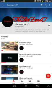 Hello everyone, plz check out my youtube channel theairzzone27,