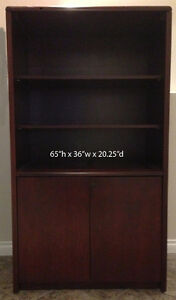 Cherrywood Bookcase/tv unit (what ever you want unit)