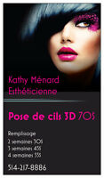 Extension de cils ->pose de cils 3d 514 217 8886