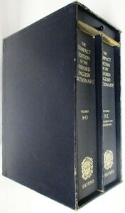Oxford English Dictionary, Compact Edition 1971, 2 Volumes Set