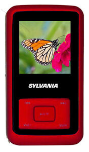 New Sylvania 1GB MP3 Player with Video and Rubberized Finish Red