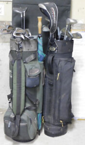Two complete sets of  golf clubs
