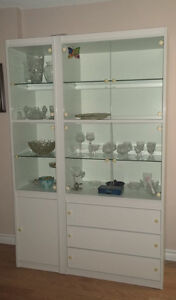 Armoire laminée & verre - Laminate cabinet with glass