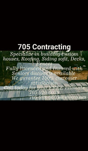 705 Contracting/ Sub Contracting, Roofs.Houses, Decks, Docks, Si