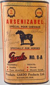 Antiquité Collection Très ancienne bouteille remède pour chevaux