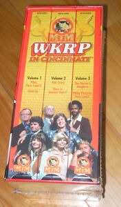 WKRP on 3 vhs tapes (new,never been opened)