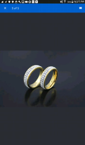 New Gold Tone Stainless Steel Rings
