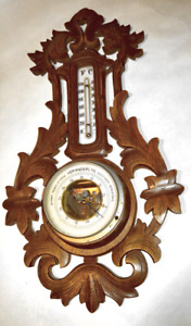 Vintage Wooden Barometer