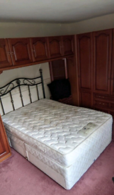 Quality double bed with matteress free local delivery