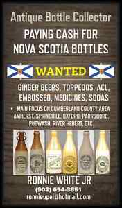 Wanted Old Nova Scotia Bottles