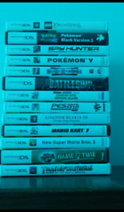 3ds  games ,case and three styluses