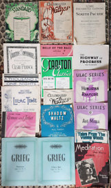 Vintage Classical Sheet Music for Piano/Keyboard