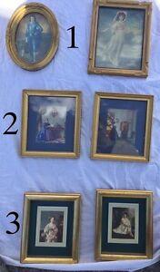 """Antique vintage Wood frame s small frames  5"""""""