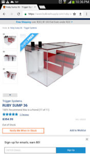 Aquarium trigger crystal 36 gallon sump