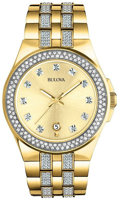 top 10 gold watches for men bulova swarovski crystal