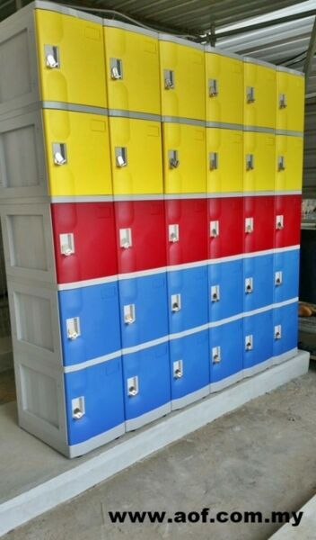 5 Compartments ABS Plastic Lockers for sale in Malaysia