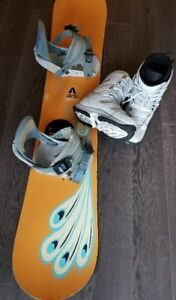 Women's Burton Snowboard with Morrow Boots