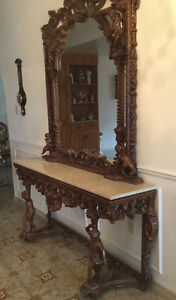 HALL CONSOLE WITH MIRROR