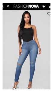 Fashion Nova High Waisted Jeans/Size 0